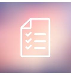 Checklist list thin line icon vector