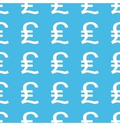 Pound sterling straight pattern vector