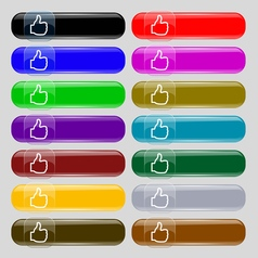 Like icon sign set from fourteen multi-colored vector