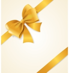 Gold satin ribbon vector