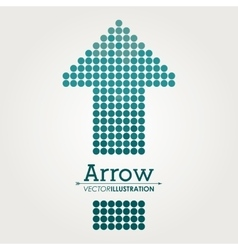 Arrow shape design vector