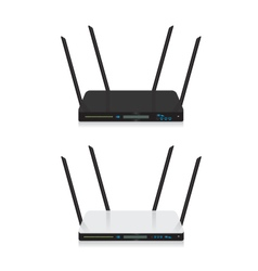 Wifi router on white background vector