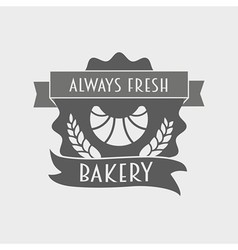 Bakery retro label logo or badge vector