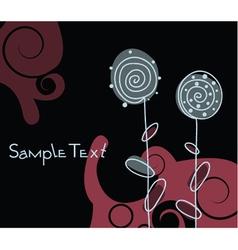 doodles floral background vector image