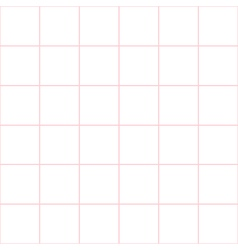 Pink grid white background vector