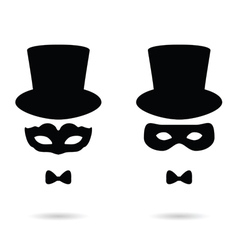 Face man with mask vector