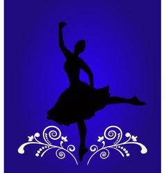 Ballerina silhouette vector image