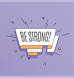 be strong retro design element in pop art style vector image vector image