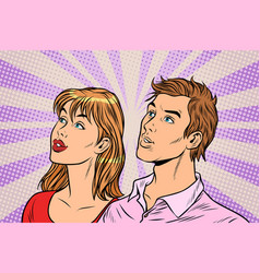beautiful couple man and woman vector image
