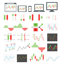 binary options icons vector image vector image