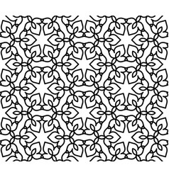 Black and white moroccan pattern vector