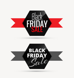 Black friday sale badges with ribbon for promotion vector