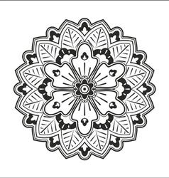 Black mandala on the white background vector