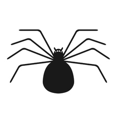 Black silhouette of spider on white background vector