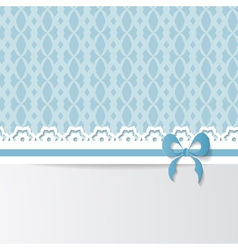 blue greeting card vector image vector image