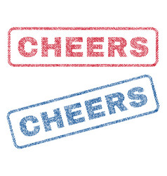 Cheers textile stamps vector