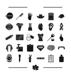Computer equipment and other web icon in black vector