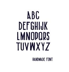 Handwritten font vector image vector image