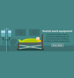 Hospital ward equipment banner horizontal concept vector