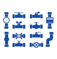 isolated pipes set vector image