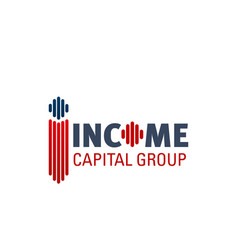 Logo for income capital group vector