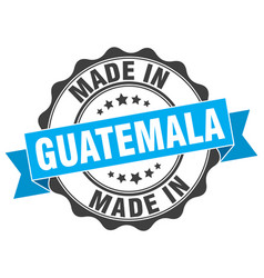 Made in guatemala round seal vector