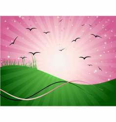magic meadow illustration vector image vector image