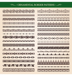 Ornamental border frame patterns vector