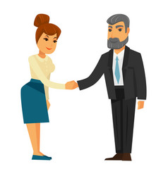 People shaking hands vector
