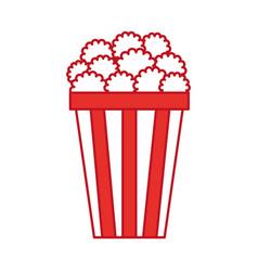 pop corn isolated icon vector image