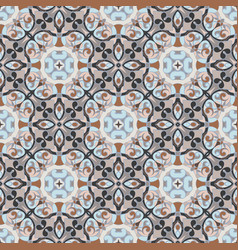 Seamless symmetrical pattern vector