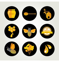 Set Honey badges and labels Abstract bee design vector image vector image