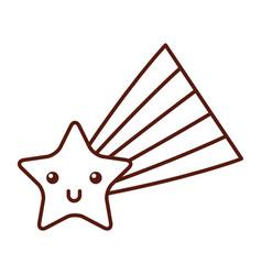 shooting star kawaii character vector image