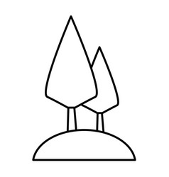 trees nature symbol vector image