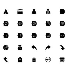 Universal Mobile Line Icons 16 vector image vector image