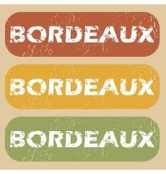 Vintage bordeaux stamp set vector