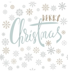 Merry christmas handwritten lettering design with vector