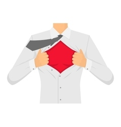 Man Ripping The Shirt vector image