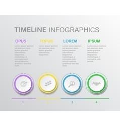 elements timeline infographic diagram vector image