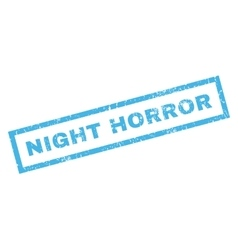 Night horror rubber stamp vector