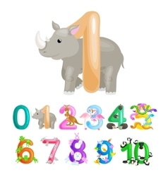 Ordinal number 1 for teaching children counting vector