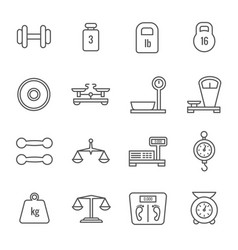 measurement weight scales libra balance thin vector image