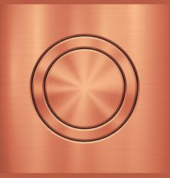 Bronze metal technology background vector