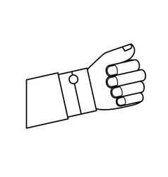 Hand human fist isolated icon vector