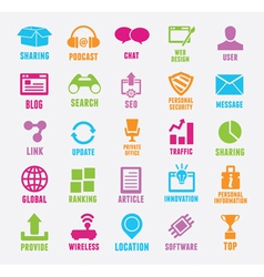 Set of seo and internet service icons vector