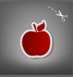 apple sign   red icon with for vector image