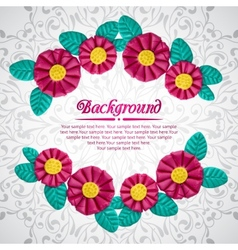 Beautiful frame of plasticine flower branches vector