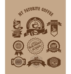 Vintage retro coffee badges vector