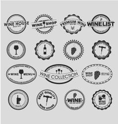 Wine logo 2 vector image