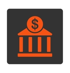 Bank icon from commerce buttons overcolor set vector